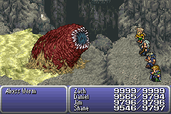 final fantasy vi advance dragon's den abyss worm