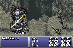 final fantasy vi advance dragon's den dark behemoth