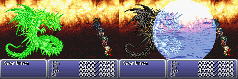 final fantasy vi advance boss kaiser dragon